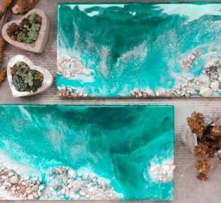 Как рисуются картины из эпоксидной смолы, современная живопись Resin Art