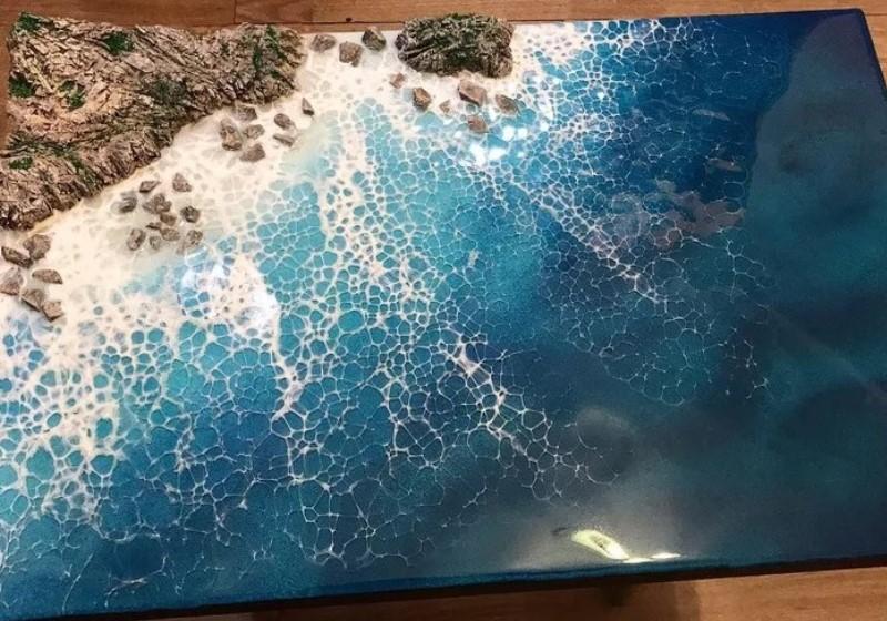 Красивое синее море