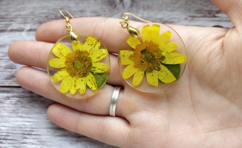 Сережки с цветами